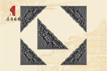 唐语砖雕 中式墙面装饰配件 荷花角花砖雕|TY-S231
