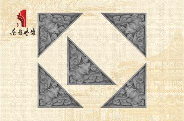 唐语砖雕新品 影壁照壁墙面角花装饰配件 蝙蝠角花|TY-S203