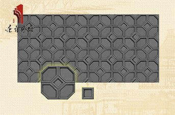 唐语砖雕 新品龟背纹墙面装饰材料,仿古砖雕|TY-QD036