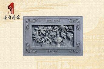 唐语砖雕 吉祥砖雕挂件配饰,图案精美砖雕竹菊TY-GY865