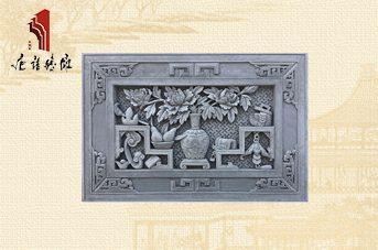 唐语砖雕 新品挂件TY-GY862牡丹博古 砖雕挂件首选