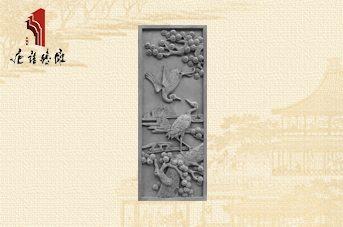 唐语砖雕 新品风景砖雕吉祥图案TY-GY077松鹤延年