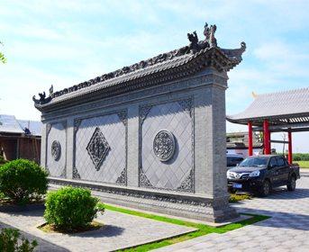 唐语砖雕室外照壁 影壁墙